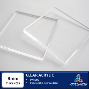 CLEAR ACRYLIC SHEETS 3mm THICK