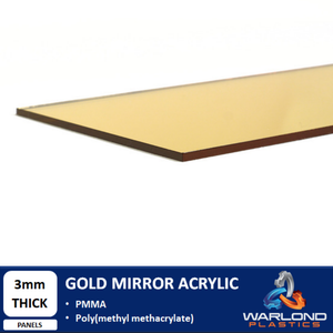 Gold Mirror Acrylic Panels