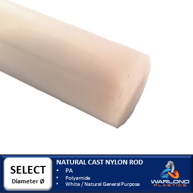 NATURAL CAST NYLON ROD