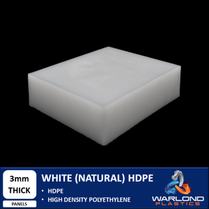 White / Natural HDPE (3mm) Thick Panels