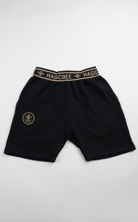 Magicbee Gold Rib shorts - Black