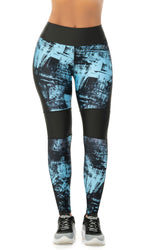 LEGGING CURVAS FIT AZUL