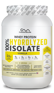 100% HYDROLYZED WHEY PROTEIN ISOLATE VAINILLA