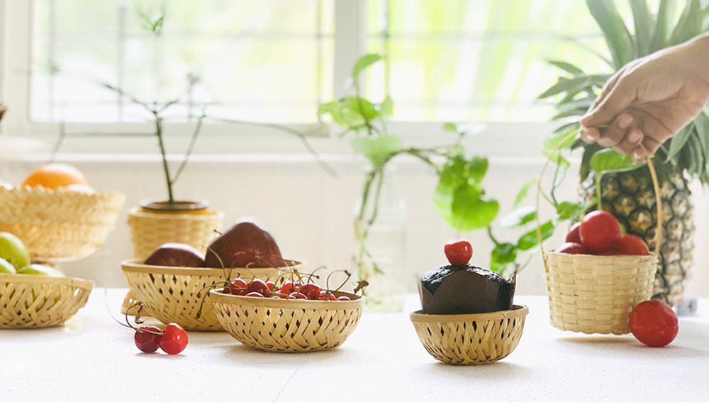 "DaisyLife natural bamboo baskets range - ""First bamboo"" collection"