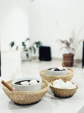 DaisyLife natural bamboo baskets for serving