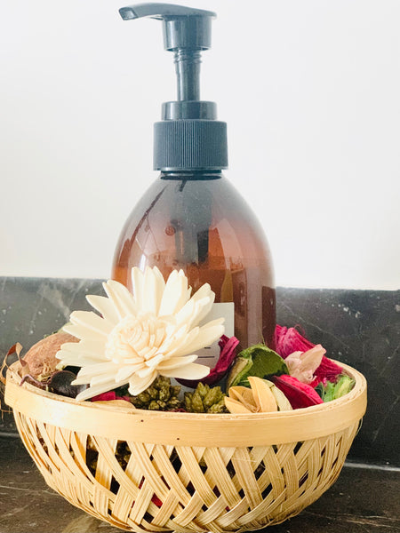 Bamboo Basket in Wash room