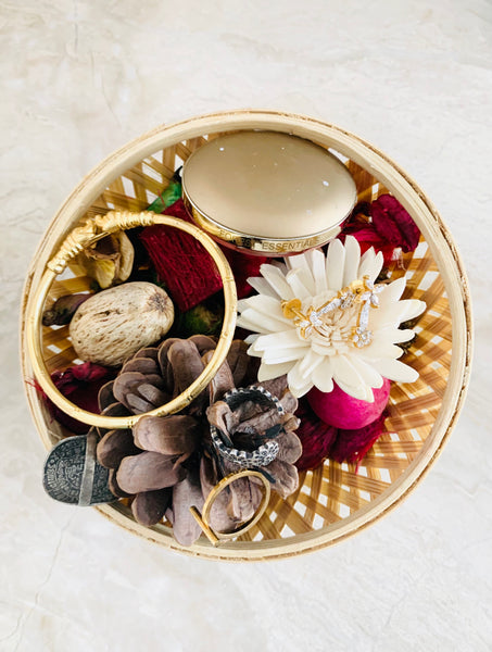 Bamboo Basket for Jewellery