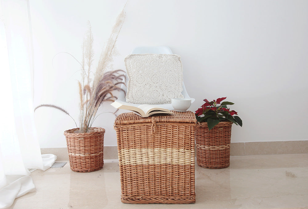 DaisyLife wicker laundry and planter baskets