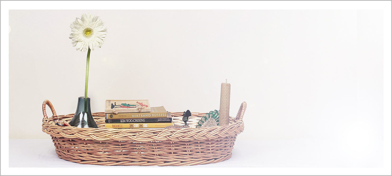 DaisyLife wicker coffee table basket