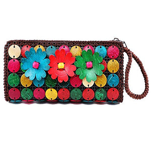 DAISYLIFE Natural and Eco-Friendly Coconut Shell Clutch Bag