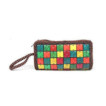 Load image into Gallery viewer, Colour Cubes - Natural coconut shell clutch