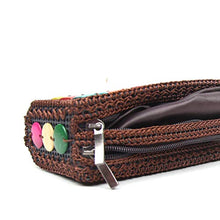 Load image into Gallery viewer, DaisyLife eco-friendly natural coconut shell multicolor hand clutch side angle