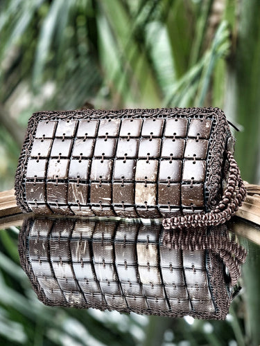 DaisyLife eco-friendly natural brown coconut shell fashion hand clutch