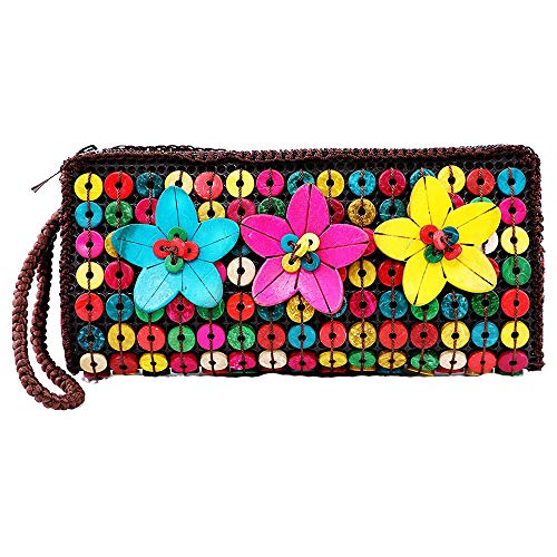 DAISYLIFE Natural and Eco-Friendly Colorful Coconut Shell Clutch