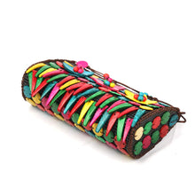 Load image into Gallery viewer, DAISYLIFE Natural and Eco-friendly Colorful Coconut Shell fringe spacious sling bag for party or casual occasion wear.
