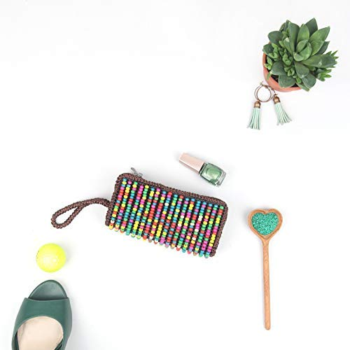 DAISYLIFE Natural and Eco-Friendly Colorful Wooden Bead Clutch for partywear and daily use