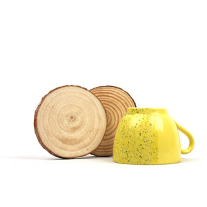DAISYLIFE Natural Wooden Coasters, Modern and Eco-friendly gift items/tableware