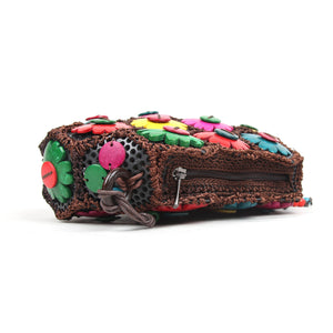 DAISYLIFE Natural and Eco-Friendly Colorful Floral Coconut Shell sling bag