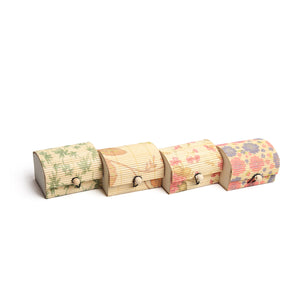 DAISYLIFE Bamboo Printed Design Box for Storage, Utility & Gifts - Set of 4