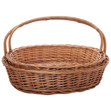 Load image into Gallery viewer, DAISYLIFE Natural Color and Eco-friendly Wicker Gifting and Multi-utility Basket with handle.