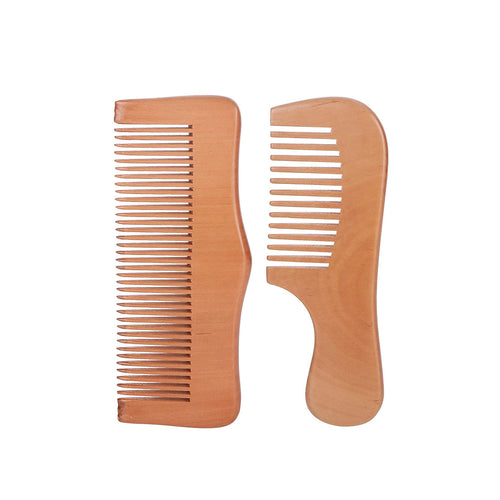 DAISYLIFE Natural Color and Eco-friendly wooden combs for combing and massaging