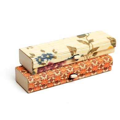 DAISYLIFE Bamboo Printed Design Long Box for Stationery, Storage, Utility & Gifts - Set of 2