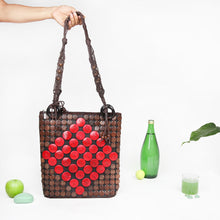 Load image into Gallery viewer, DAISYLIFE Natural and Eco-Friendly Coconut Shell Handbag - Red and Brown color