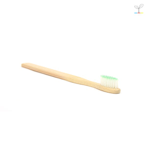 DAISYLIFE natural bamboo toothbrush with fine medium soft bristles for gentle cleaning