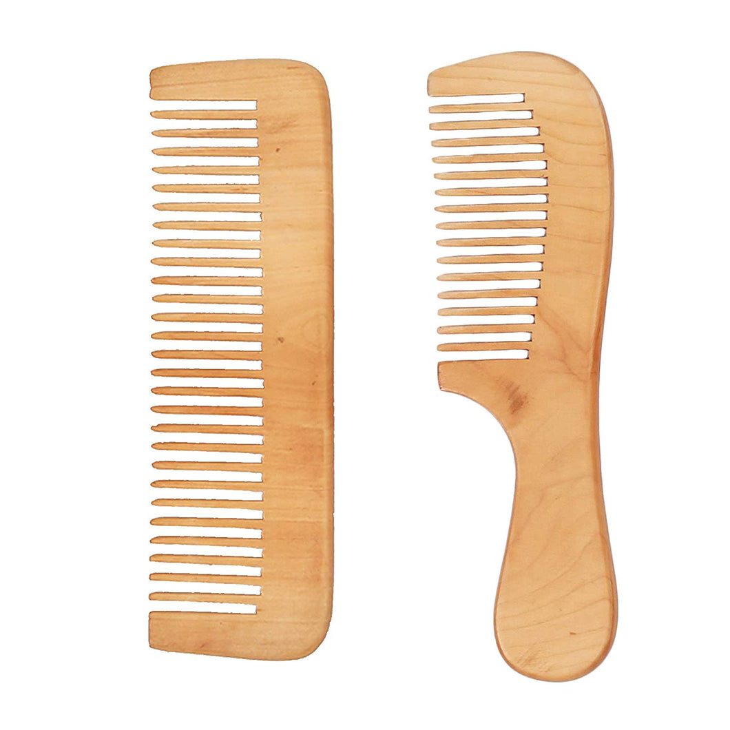 DAISYLIFE Natural and Eco-friendly beech wood combs for healthy hair and scalp