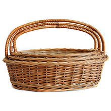 Load image into Gallery viewer, Set of 3 sizes - 'Gift or Store' Oval Wicker Basket (Compact set)
