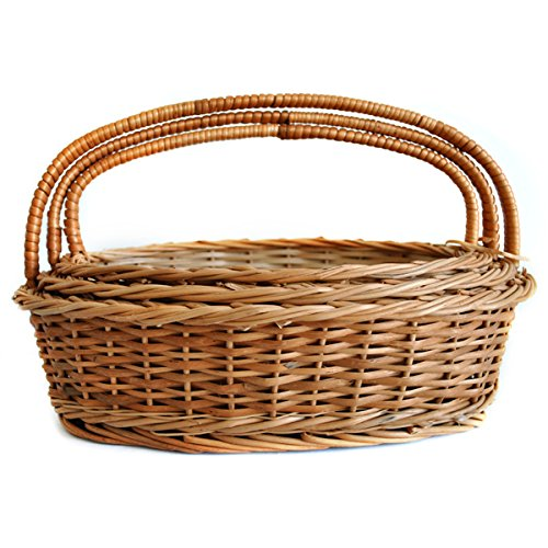 Set Of 3 Sizes Gift Or Store Oval Wicker Basket Compact Set Daisylife