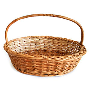 Set of 3 sizes - 'Gift or Store' Oval Wicker Basket (Compact set)