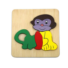 Load image into Gallery viewer, DAISYLIFE Natural and Eco-friendly Wooden Monkey Animal Puzzle Boards for 2+ year old kids