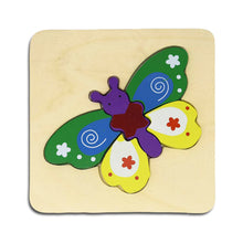 Load image into Gallery viewer, DAISYLIFE Natural and Eco-friendly Wooden Butterfly Animal Puzzle Boards for 2+ year old kids