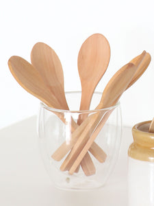 Small wooden spoon set of 6 pcs