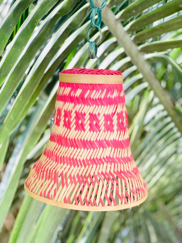 Set of 2 bamboo lamp shades