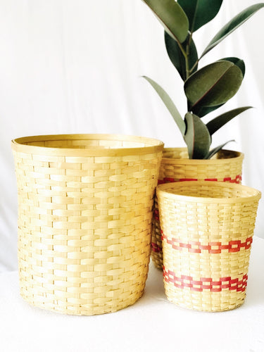 Bamboo bucket planter