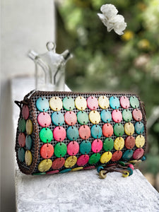 DaisyLife natural coconut shell multicolor fashion sling bag