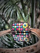 Load image into Gallery viewer, DaisyLife natural coconut shell multicolor fashion clutch wristlet  bag
