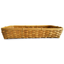 Load image into Gallery viewer, Natural bamboo tray basket front view