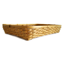 Load image into Gallery viewer, Natural bamboo tray basket side angle view