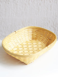 DaisyLife natural bamboo tray serving basket