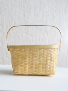 DaisyLife natural bamboo basket with handle