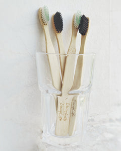 'Fine & Shine'  White Bristles Natural Bamboo Toothbrush
