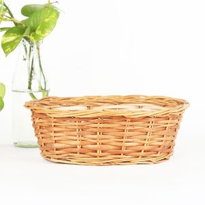 DaisyLife natural small oval wicker basket
