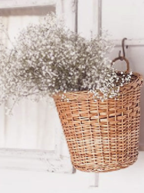 Set of 2- Round tub wicker planter basket