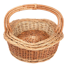 "Load image into Gallery viewer, ""Graceful"" Natural Wicker Deep-Waves Basket (set of 3 sizes)"