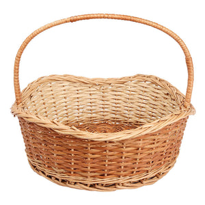"""Graceful"" Natural Wicker Deep-Waves Basket (set of 3 sizes)"