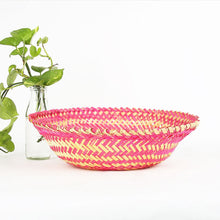 Load image into Gallery viewer, DaisyLife pink color bamboo oval big basket