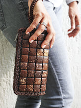 Load image into Gallery viewer, DaisyLife natural coconut shell brown wristlet bag on model